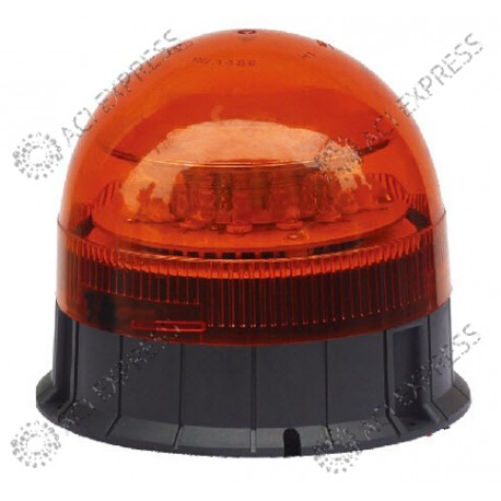 Gyrophare LED orange R65fixation 3 points iso
