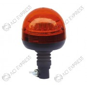 Gyrophare orange LED R65 sur hampe