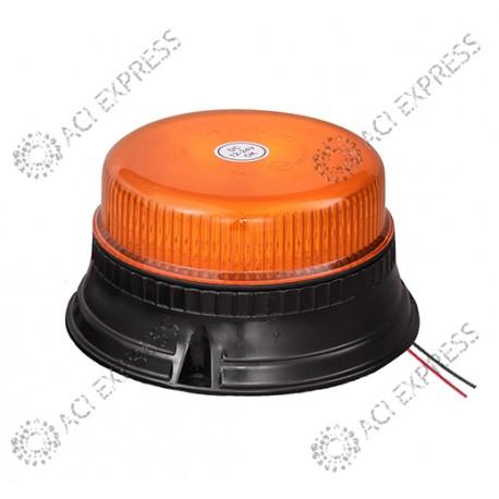 Gyrophare ORANGE LED extrat plat SEKAR R65 12/24V