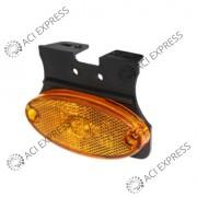 Feu_de_position_OVALE_orange_12/24V_click-in_IP67_LED_Remorque_Camion_semi-remorque_poidslourd_utilitaire