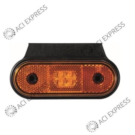Feu de position OBLONG_12/24V_IP67_LED_Remorque_Camion_semi-remorque_poidslourd_utilitaire_Camionnette_Dépanneuse_4x4_Poidslourd