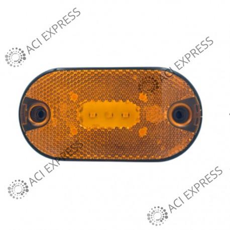 Feu_SM1_à_LED_fixation_à plaquer + 2 connecteurs_camion_poids_lourds_véhicule utilitaire_camionette